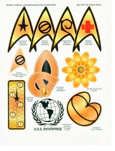 starfleet badge database