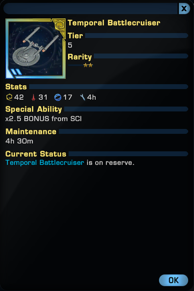 temporal battlecruiser